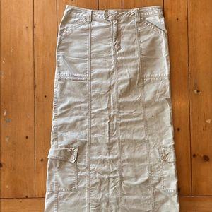 Union Bay cream khaki maxi cargo skirt #y2k